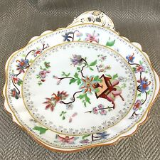 Antique English Porcelain Bowl Chinese Leaf Hand Painted Early 19th Century