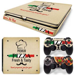 PS4 Slim Playstation 4 Console Skin Decal Sticker Pizza Box Custom Design Set