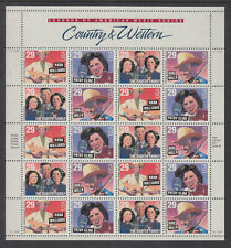 US #2771 - 2774 Country & Western 29 Cents Complete Sheet of 20 MNH