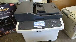 Lexmark CX410DE Colour Laser Printer COPIER / SCANNER used working