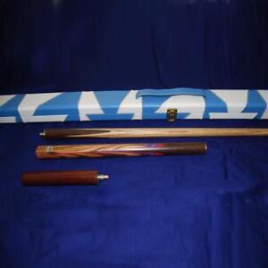 """57"""" Handmade 3/4 Multi-Handspliced Rosewood Butt Ash Shaft Snooker/Pool Cue Set"""