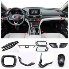 For 2018-2019 Honda Accord Carbon fiber style interior fittings cover trim 11PCS