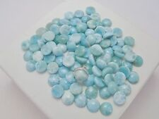 GENUINE LARIMAR 8mm CALIBRATED ROUND CABOCHON 10pcs