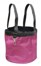 Collapsible PINK Nylon Grooming Tote w/ Pockets! GREAT STORAGE! NEW HORSE TACK!