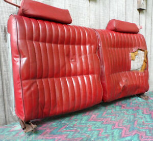 1979 PONTIAC GRAND PRIX RED FRONT SEAT BACKS with CHROME ASH TRAYS LEFT & RIGHT