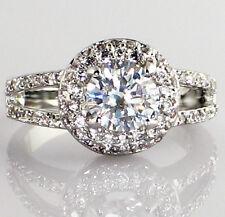 Engagement Bridal Wedding Ring - Size 7 Halo Dual Band 2.74 Ct. Cubic Zirconia