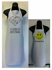 Personalised Adult & Childs Apron Set your photo and text gift