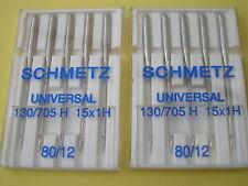 10 schmetz aiguilles pour machines à coudre 80/12 fits bernina pfaff janome toyota brother