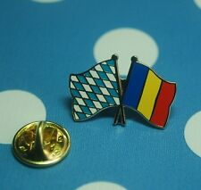 Freundschaftspin Bayern Rumänien Pin Button Badge Anstecknadel Anstecker Sticker