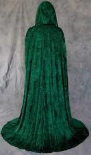 Unlined Green Velvet Renaissance Cloak Cape Wedding Wicca Medieval LOTR Cosplay