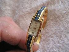 Vintage Ernest Borel Incabloc Cuff  Watch Fleur Di Lis