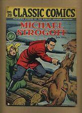 Classic Comics 28 Original (FR; coupon cut BC) MICHAEL STROGOFF (id# 11161)