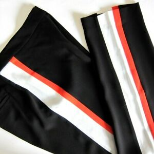 "BCBG MAXAZRIA Women's ""Lester"" Trousers, Black with MULTI Side Stripe, Size 6"