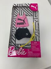 Barbie Fashion Pack Puma Outfit for Doll - Pink Tank Black Shorts Fanny Pack Dmg