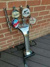More details for beer font tap 4 head chrome. great condition. man cave