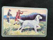 Vintage Swap / Playing Card - White Spaniel Hunting Dog - Frank Carter