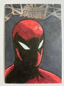 2017 Fleer Ultra Spider-Man Artist Art Sketch card drawn by Matt Langford #1/1