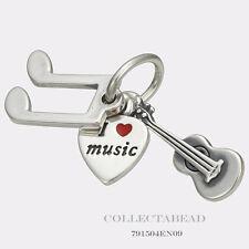 Authentic Pandora Sterling Silver I Love Music Guitar Pendant 791504EN09