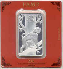 PAMP SUISSE 2016 Year Of The Monkey 100 g PURE 999 SILVER Sealed Bar