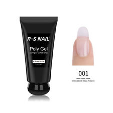 RS Nail UV LED French Builder Gel Nail Polish Clear White Pink Gel 50ml
