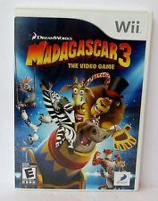 Nintendo Wii Dreamworks Madagascar 3: The Video Game Case & Manual