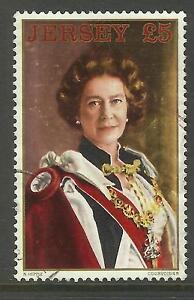JERSEY 1983 £5 QUEEN ELIZABETH II DEFINITIVE STAMP Fine Used (No.1)