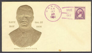 USS Texas BB-35, Navy Day Oct 27, 1936, Embossed Teddy Roosevelt w/Embossed Encl