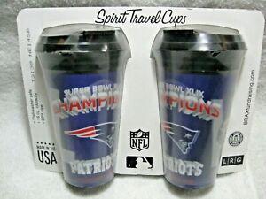 Super Bowl Champion NEW ENGLAND PATRIOTS 3D Holographic 16oz Spirit Travel Mugs!