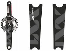 Crank Set Stickers Decals MTB SRAM XX1 Mountain Bike Bicycle Adhesive 2Pcs White