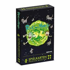 Number 1 Playing Cards Rick And Morty Card Game Cards Fan Game Memorabilia
