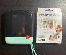 """Polaroid Pop 3x4"""" Instant Print Digital Camera w/ Film Zink Zero Ink Mint Green"""