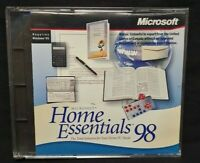 Microsoft Home Essentials 98 PC CD-ROM Software Disc for Windows 95 Complete