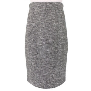 The Row Elegant Grey Tweed High Waist Pencil Skirt US8 UK12