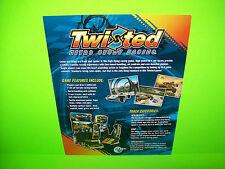 Global VR TWISTED Nitro Stunt Cycle Original NOS Video Arcade Game Sales Flyer
