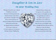 DAUGHTER & SON IN LAW- Wedding Day (Poem gift)