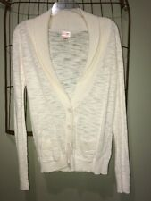 Mossimo Supply Off White Cardigan Sweater Women's Small 4-6