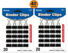 40 Pcs Small 34 19mm Black Binder Clips Solid Hold Releases Easily Tackle