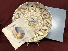 "Wedgwood Calendar Plate~British Birds~9 3/4"" 1990 5th In Series of 5~ The Waders"