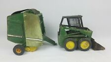 Ertl John Deere Hay Baler & Skid Steer ~ As-Is ~ See Pics