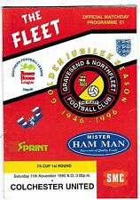 GRAVESEND & NORTHFLEET V COLCHESTER UNITED FA CUP 11/11/95