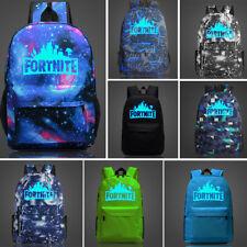 Unisex Backpack noche Luminoso Estudiantes Escuela libro bolsas Galaxy Impreso