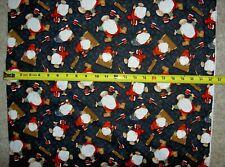Gnomes Gnome Timber Gnomies Tossed Q9273-99 Black hg durable cotton Fabric
