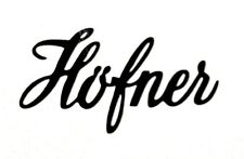 2 x Hofner Guitar Headstock Logo Vinyl Decal Sticker  - Various Colours