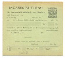 GERMANY -LOCAL-PRIVATPOST =PS-INCASSO AUFTRAG - HAMBURG = F/VF