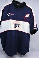 NASCAR pit crew shirt 1990's Rusty Wallace Miller High Lite Penske Racing size m