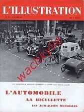 L'illustration n°5093 du 19/10/1940 spécial automobile gazogène bicyclette Zay