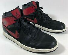 Michael Air Jordan 554724-024 Black Gray Red Leather Basketball Shoes Men's 13