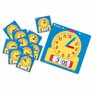Learning Resources Write & Wipe Student Clock Set, Pack of 10