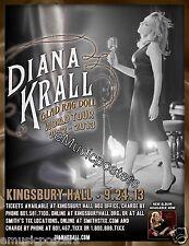 "DIANA KRALL ""GLAD RAG DOLL WORLD TOUR"" 2013 SALT LAKE CITY CONCERT POSTER - Jazz"