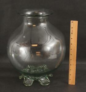 Large, 18/19thC Antique Doctors Apothecary Hand Blown Glass, Leech Jar. NR